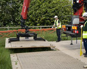 Dura-Base mats require no manual handling