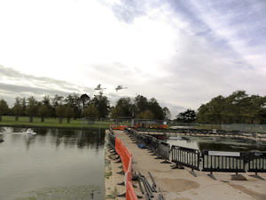 Floating pontoon at Hampton Court Palace