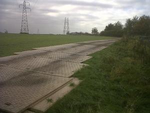 Dura-Base mats protect arable land and pasture
