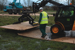 Dura-Base mats ideal over wet and marshy ground