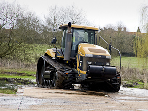 Dura-Base mats are suitable for tracked machines as well as wheeled
