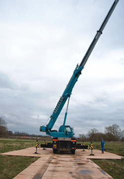 Dura-Base provides an excellent platform for mobile cranes