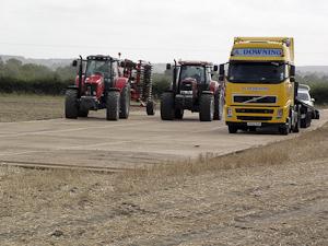 Supporting heavy loads over farmland